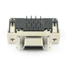 2Pcs SCSI Female 14 Pin CN Type Right Angle DIP Connector Adapter