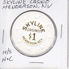 $1 CASINO CHIP - SKYLINE CASINO - HENDERSON, NEVADA H/S H&C MOLD GAMBLING