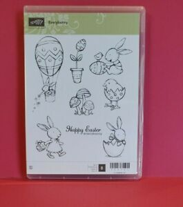 "Stampin'Up Stamp Set Rubber Mount ""Everybunny""  #122707"
