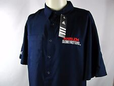 HARLEM GLOBETROTTERS ADIDAS 2 a Days Embroidered S/S BUTTON FT SHIRT Medium NEW