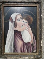 ancienne icône / peinture Madone, old icon /traditional painting Madonna Romania
