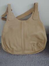 """Ladies Genuine Leather Handbag, Tan,1'3""""x9""""x11.5"""",Vintage, never used."""
