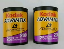 2 Kodak Advantix 200 - Color print film Aps Iso 25 exposures Exp 08/2003