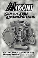 Owners Manual for Super BN Carburetors Mikuni  MK-BN/004