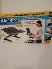 AirSpace Adjustable Laptop Desk with Laptop Cooling Fan Plus Bonus