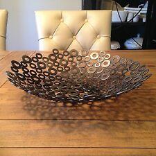 Metal Art bowl rustic home decor Abstract sculpture modern Holly Lentz