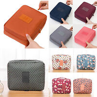 Women Portable Travel Cosmetic Makeup Bag Toiletry Case Pouch Storage Organizer
