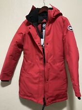 New Canada Goose Victoria Down Parka with Genuine Coyote Fur Red Size S