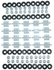 ☀�New! Lego 100 Pcs. Of Car Parts Wheels Tires Axles Rims Bulk Truck