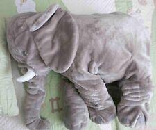 "IKEA Plush Gray Stitched LARGE Stuffed Elephant Toy Klappar Elefant EUC 23.5"" EU"