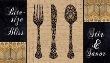 "Rectangular Utensils Kitchen Mat 18"" x 30"" By Catalina Home"