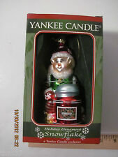 Yankee Candle Unscented Holiday Ornament Snowflake our 1761