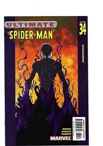 Ultimate Spiderman # 34 vs Venom Bendis and mark Bagley N mint