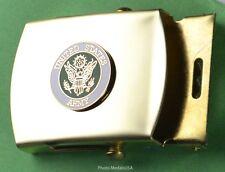Army Web Belt & buckle - brass buckle & black web belt - USA