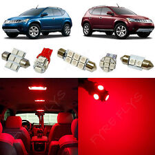 11x Red LED lights interior package kit for 2003-2008 Nissan Murano NM4R