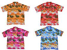 MENS HAWAIIAN SHIRT PALM TREE FANCY DRESS STAG FESTIVAL BEACH PARTY SIZE S-XXXL