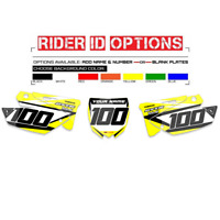 2002-2014 YAMAHA YZ 125-250 RESTYLED UFO GRAPHICS NUMBER PLATE BACKGROUND DECAL