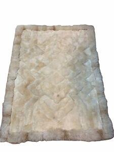 """Alpaca Pete's 100% Natural Alpaca Fur Area Rug 54"""" X 60"""" Made In Peru"""