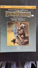 "AD&D ""UNDER ILLEFARN"" FORGOTTEN REALMS #9212 N5 TSR 1987 levels 0-3 VNC"