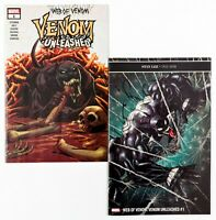 Web of Venom Unleashed #1 & 1V (2019 Marvel) Stegman & Bradshaw Variant Cover NM