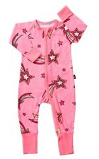GIRLS BONDS Wish Upon a Star Pink Star Zippy Wondersuit - Size 1 / 12 - 18 mth