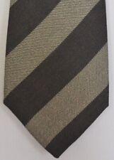 """Kiton Napoli Mens 7 Fold Handmade Wool Stripe Tie NEW 59"""" X 3.5"""" SKU B32/2 $350"""