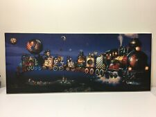 "Signée Dean Morrissey "" The Goodnight Train "" Fantaisie Art Giclée À Toile"