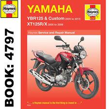 Yamaha YBR125 YTR125R YTR125X 2005-2013 Haynes Workshop Manual