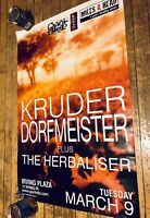 Kruder & Dorfmeister Original Concert Poster 1999 NYC K&D Herbaliser Vintage