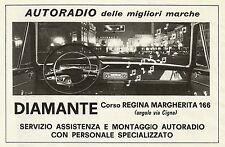 W5172 DIAMANTE montaggio autoradio delle migliori marche - Pubblicità 1967 - Adv