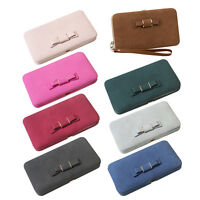 Womens PU Leather Wallet Purse Long Clutch Handbag Bag Vintage case Ladies woman