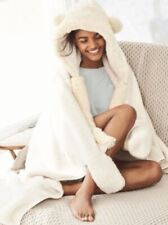 BNWT Next Cream Hooded Soft Snuggle Blanket
