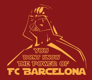 Darth Vader FC Barcelona shirt Star Wars Messi La Liga Spanish Football Barca