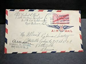 APO 839 GUATEMALA CITY 1942 Censored WWII Army Cover 15th AIR BASE Sqdn