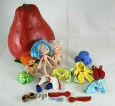 Lot of Vintage Strawberry Shortcake 3 Dolls Clothes Accessories Carrying Case