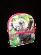Australian Souvenir Kids Girls Children Koala Backpack Bag PINK 34 x 27cm NEW
