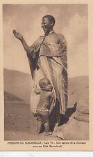 B81051 south africa une paienne de la montagne avec son bebe  front/back image