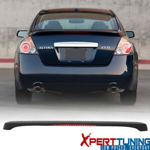Fits 07-12 Nissan Altima Sedan OE Factory Matte Black Trunk Spoiler & LED Light