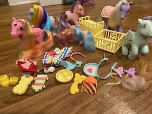 Lot My little pony g1 Dawn Ringlets Stardazzle Secret Sparkle Firefly Excellent