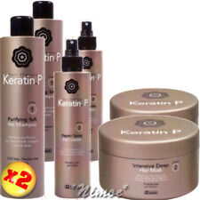 Keratin.P 2 x Kit ® Repair Spray 2 x 200ml + 2 x Shampoo 500ml + 2 x Mask 500ml