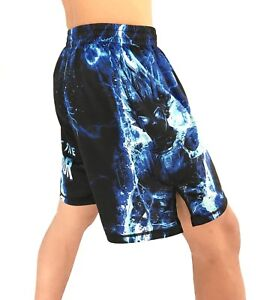 Dragonball Z Vegeta Fight Shorts MMA Kick boxing wrestling Youth & Mens
