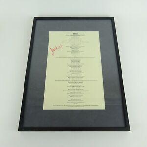 """JADAKISS Signed & Framed Lyrics to """"Why"""""""
