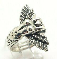 Angel Body Wings Biker Sterling Silver 925 Ring 14g Sz.9 KWD431c