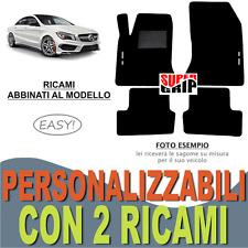 PER MERCEDES CLASSE CLA TAPPETI AUTO MOQUETTE E FONDO GOMMA + 2 RICAMI EASY