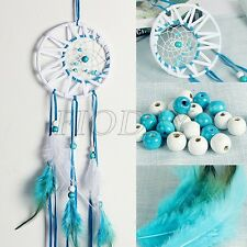 Dream Catcher Blue/White Wall Hanging Decoration Bead Ornament Feathers Long 30""