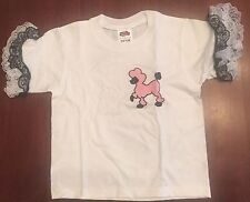 1950's Sock Hop Child Poodle T-Shirt (XS 2-4) - 50s Poodle Shirt LOT of 4 NWT