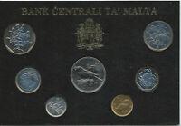 Malte - Monnaie de 1991 - 7 pièces de 1 Cent à 1 Lira FDC