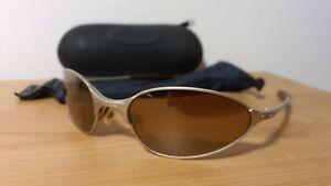 OAKLEY C WIRE 1.0 Sunglasses Vintage Platinum / Gold Iridium WIth Vault Case