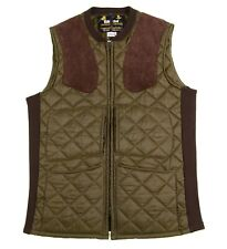 Barbour Made in England Green Diamond Quilted Insulated Hunting Shooting Vest S