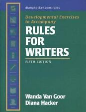 Developmental Exercises to Accompany Rules for Writers by Diana Hacker and Wand…
